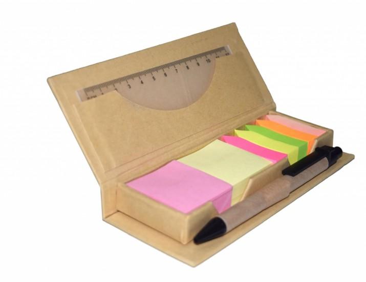 Foto de Bloco de anotações com Post-it + régua + caneta
