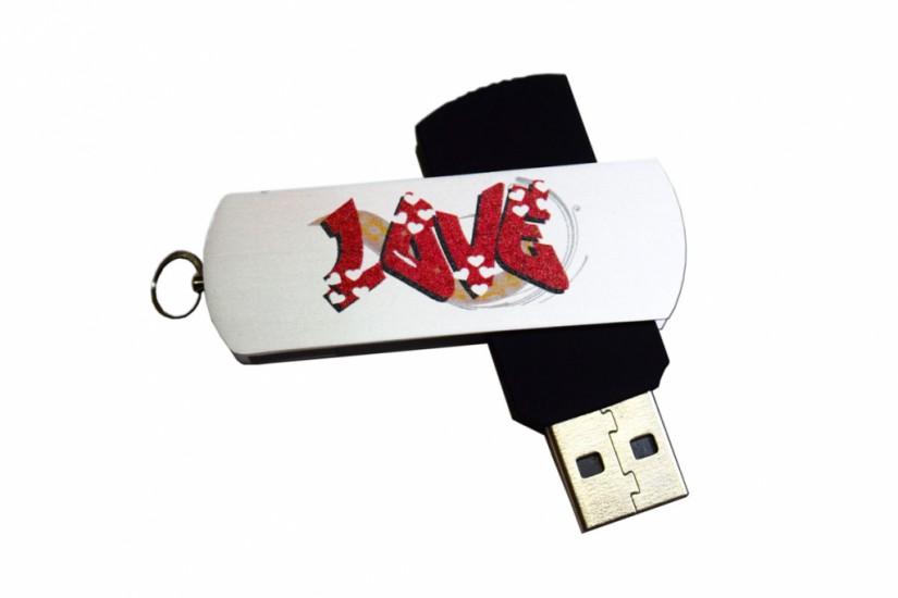 Foto de Pen drive giratório 4GB